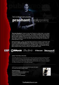 "Prashant Aswani - ""Sonically Speaking"" Contest"