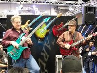 Brian Bromberg and Frank Gambale @ Carvin