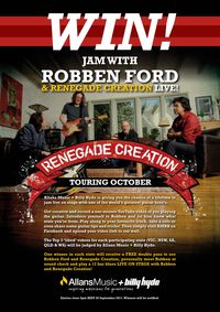 Win a Jam with Robben Ford and Renegade Creation in Australia!