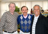 Walter Kolosky with artist Peter Max and John McLaughlin
